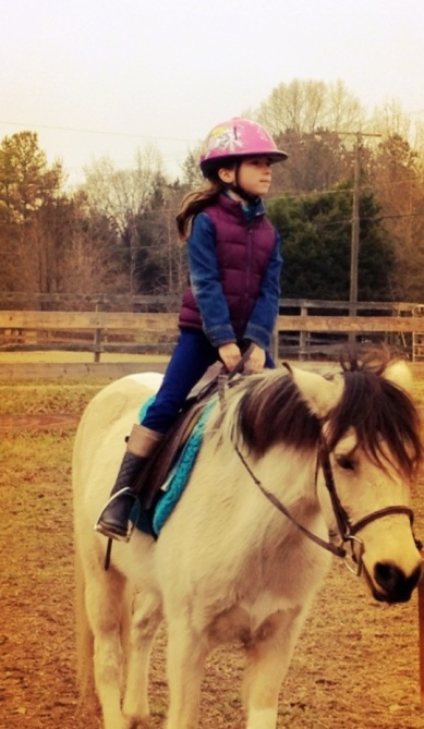 riding at the farm